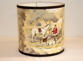 Vintage wallpaper drum shade 1950s the