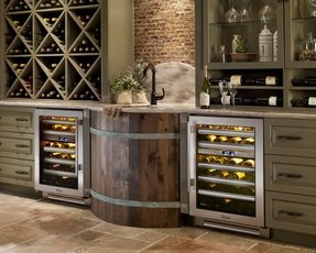 Wine cooler bar cabinet 19