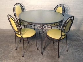 Wrought iron kitchen tables 1