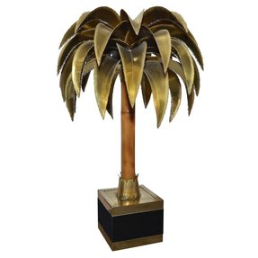 1970s palm tree lamp maison jansen