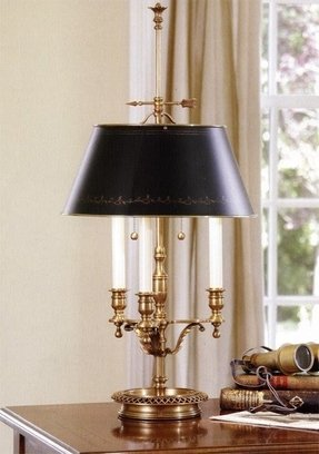 Antique solid brass table lamp 2