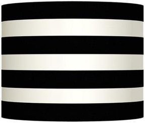 Black and white striped lamp shade