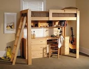 Bunk bed with dresser and desk 9
