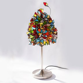 Butterflies and hurricanes butterfly lamp stained glass table lamp made
