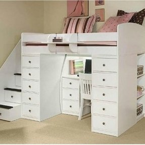 Bunk Bed With Dresser And Desk Foter