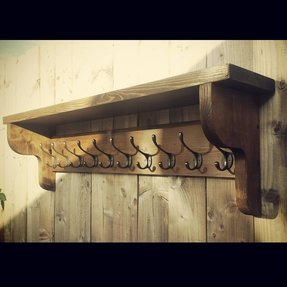 Coat hook rack with shelf 10