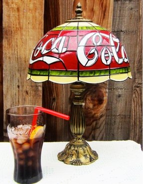 Coca cola stained glass style