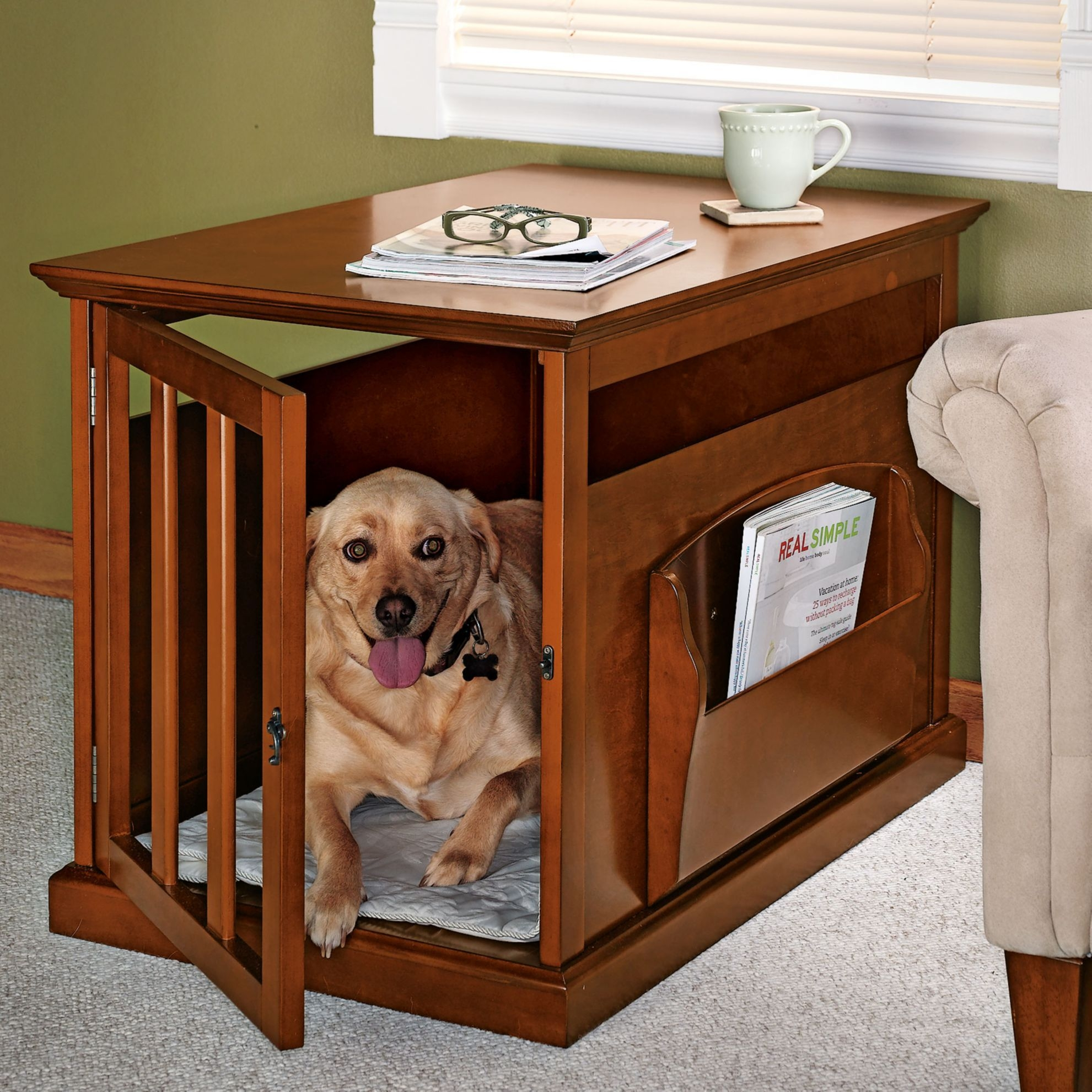 Incroyable Dog Crate End Table Large