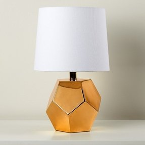 Gold base table lamp 1