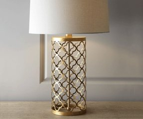 Gold base table lamp 5