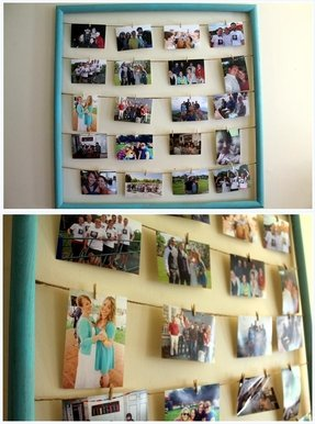 Homemade collage picture frames