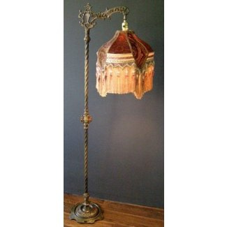 Iron floor lamp antique