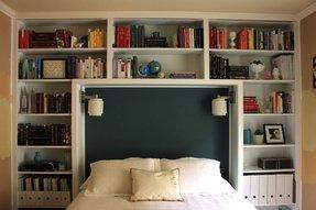 King Size Bookshelf Headboard Ideas On Foter