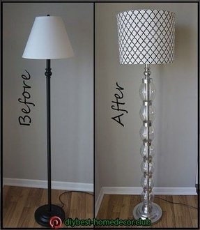 Lamp shade foter another creative diy project for lamp transformation which gives the old fashioned classic floor lamp a new look that makes it seem entirely different mozeypictures Image collections