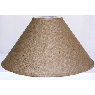 Medium brown burlap coolie lamp shade