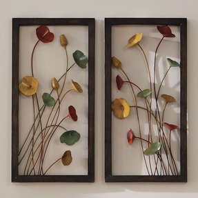 Metal wall flowers 9