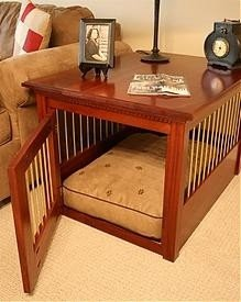 wooden dog crate end tables