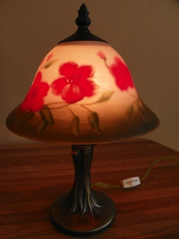 Reverse Painted Lamp Shade 7. Hand Painted Lamp Shades