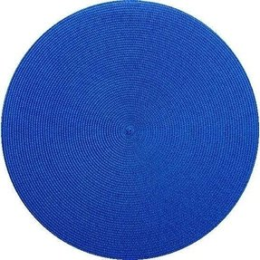 Round placemat in royal blue
