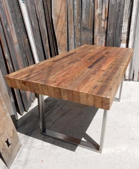 Rustic industrial dining table 2