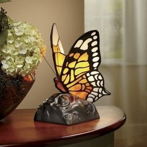 Stained glass butterfly lamp 14
