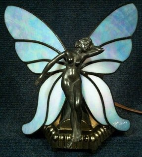 Stained glass butterfly lamp 4