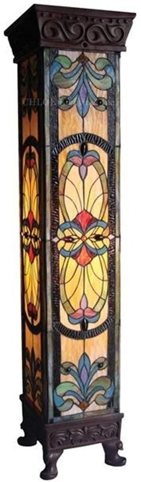 Stained glass floor lamp 1
