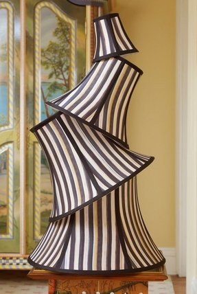 Striped lamp shades foter striped lamp shades 20 aloadofball Gallery
