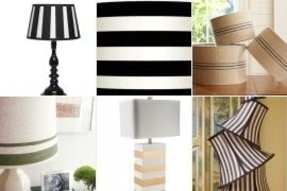 Striped lamp shades foter striped lamp shades aloadofball