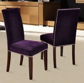 Purple Velvet Chair - Foter