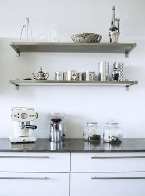 Wall Mounted Stainless Steel Shelving