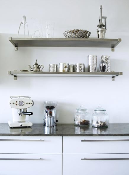 Awesome Wall Mounted Stainless Steel Shelving
