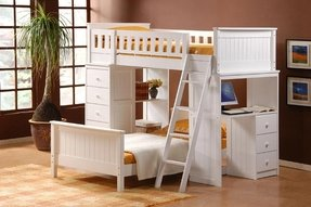 Bunk Bed With Desk And Drawers Ideas On Foter