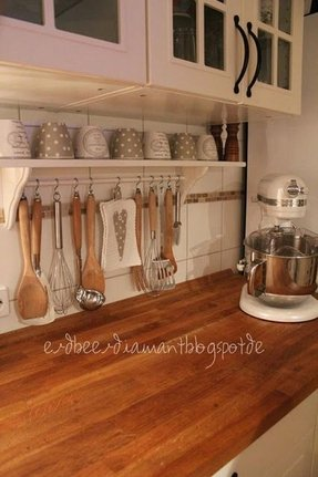 Wooden Shelf With Hanging Rod Foter