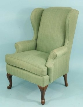 126 green wing chair