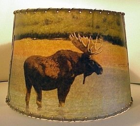 Adirondack moose deer bear lamp shade sm