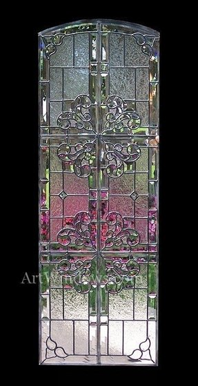 Art glass panel