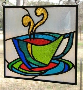 Art glass panels for windows 14