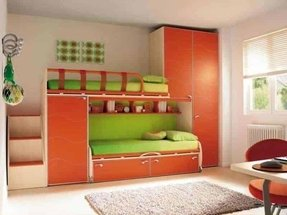 Bunk bed with stairs and storage 2