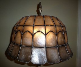 Capiz Shell Floor Lamp Foter