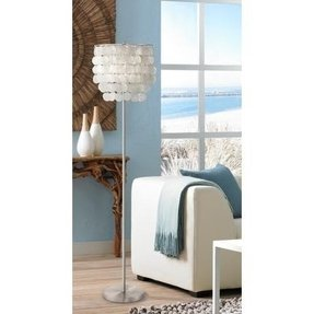 Capiz shell floor lamp 8