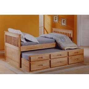 Captains bed with trundle and storage drawers 1