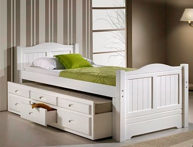 Charming Captains Bed With Trundle And Storage Drawers
