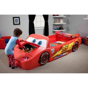Cars lightning mcqueen convertible toddler to twin bed 3