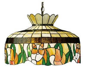 Cat Tiffany Stained Glass Pendant Lighting Fixture 19.5 Inches W