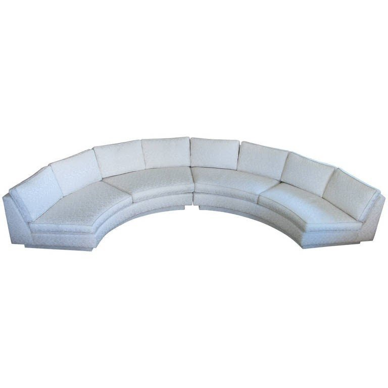 Circular Curved Sectional Sofa By Milo Baughman From A Unique