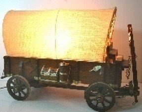 Covered wagon lamp 14