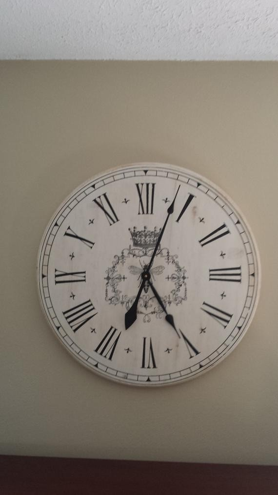 French Country Large Wall Clock