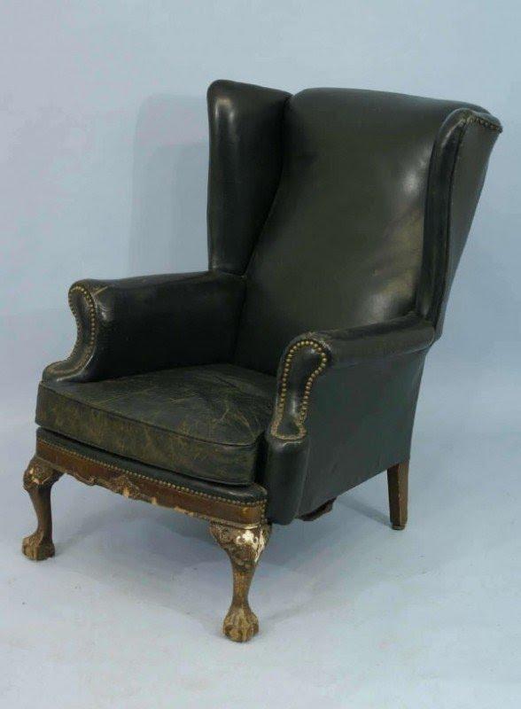 Merveilleux Green Wingback Chair 5