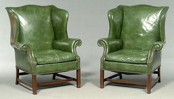 Green Wingback Chair 6